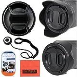 58mm Digital Tulip Flower Lens Hood + Lens Cap For Canon Digital EOS Rebel SL1, T1i, T2i, T3, T3i, T4i, T5, T5i, XSI, XS, XTI, EOS60D, EOS70D, 50D, 40D, 30D, EOS 5D, , EOS5D Mark 2, EOS6D, EOS7D, EOS M Digital SLR Cameras Which Has Any Of These (18-55mm, 55-250mm, 55-250mm, 18-250mm, 18-250mm, 75-300mm, 50mm 1.4 , 55-200mm. 70-300mm) Canon Lenses + More!!