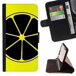 Jordan Colourful Shop - Black & Yellow Lemon Orange Fruit For Sony Xperia Z2 D6502 - < Leather Case Absorci????n cubierta de la caja de alto impacto > -