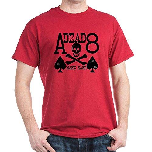 CafePress Dead Man's Hand Poker 100% Cotton T-Shirt Cardinal