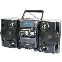 NAXA NPB428 Portable CD Player Boombox AM/FM Radio USB & Aux-Inputs 110V/220V Electronic Accessories