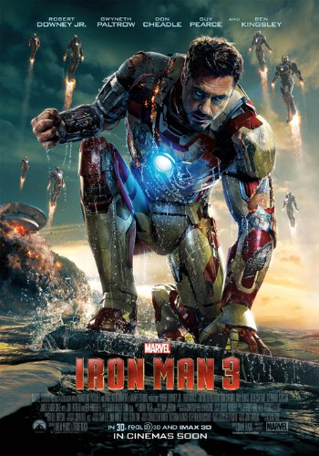 Iron Man 3 (2013) 24X36 Movie Poster (THICK) - Robert Downey Jr., Guy Pearce, Gwyneth Paltrow