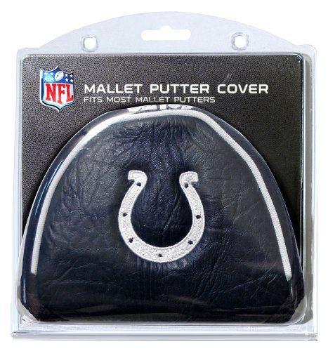 Team Golf NFL Indianapolis Colts Golf Club Mallet Putter Headcover, Fits Most Mallet Putters, Scotty Cameron, Daddy Long Legs, Taylormade, Odyssey, Titleist, Ping, Callaway