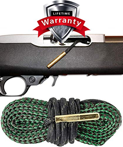 .22 Caliber Bore Snake Cleaner Rimfire Long Rifle and 22 Magnum Rifles and Pistols - Easy 1 Pull Cleaning System (22 Pistol Accessories)