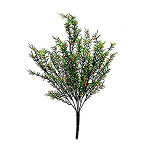"19"" Sprengeri Bush w Orange Greenery Silk Wedding Decoration Flowers Artificial Arrangement Centerpieces 48"