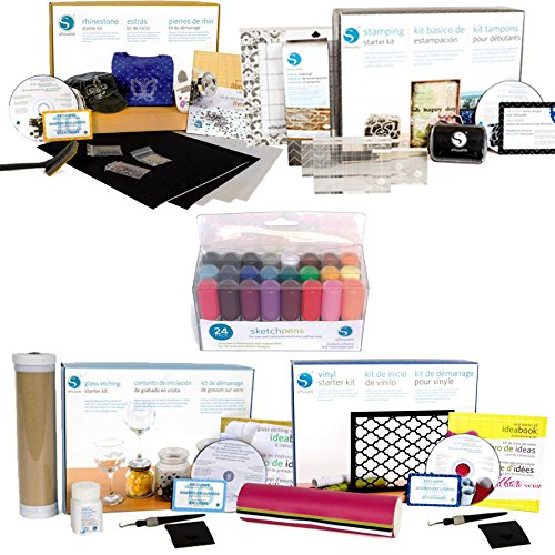 Silhouette Starter kits -4 Kits with Pen Set Bundle by Silhouette