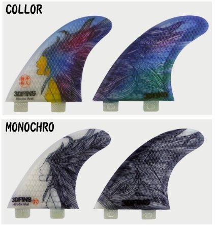 3DFINS(スリーディーフィン) 新井洋人モデル フィン 3本セット エフシーエス HIROTO ARAI SIGNATURE FCS FIN B01GO986PQ MONOCHRO