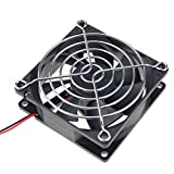 large 12v fan - GDSTIME 4500RPM 8cm 80mm x 80mm x 25mm 12v Big Airflow High Speed Dual Ball Bearing Brushless DC Cooling Fan