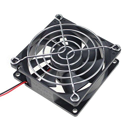 GDSTIME 4500RPM 8cm 80mm x 80mm x 25mm 12v Big Airflow High Speed Dual Ball Bearing Brushless DC Cooling Fan (Brushless Bearing Ball)