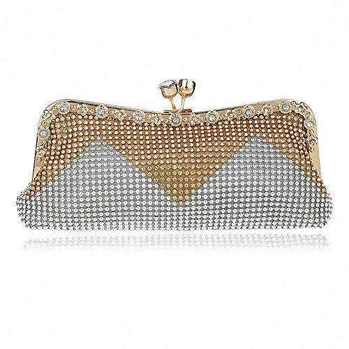 White Women Bag Handbags Rhinestone Bag Superw Bags Clutches Bag Crystal Party Dinner Princess Evening Odw454vAq