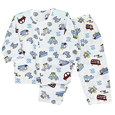 LLIOFUS Little Boys$Girls 2PS Summer Cool Sleepwear Soft Cotton Pajamas Set-001