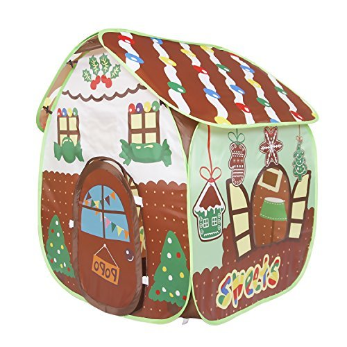 Homfu Playhouse For Kids Outdoor Large Practical Gift For Girls Boys Christmas theme Play Tent House