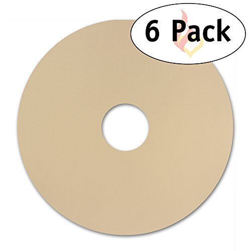 Homey 6-Pack Round Flexible Reusable Non Stick Teflon Food Dehydrator Sheets, 12.5 x 12.5-Inches