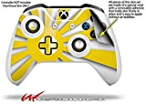 Rising Sun Japanese Flag Yellow - Decal Style Skin fits Microsoft XBOX One S and One X Wireless Controller
