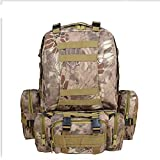 XH 55L Detachable Tactical Backpack Military Rucksacks Assault Pack Combat Backpack Outdoor Trekking