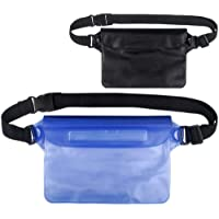 Waterproof Pouch Bag(2 Pack), Waterproof Dry Bag Case with Waist Strap or Beach, Swimming, Boating, Fishing, Camping Protect Iphone, Cellphone, Camera, Cash, Mp3, Passport, Document From Water, Sand, Snow