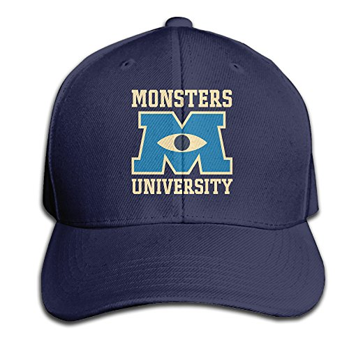 Monsters University Hat (Monsters University Eye Men And Women Navy Adjustable Cotton Baseball Cap Snapback Hat)