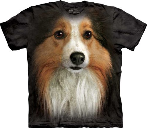 The Mountain Sheltie Face Adult T-shirt