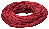 Lehigh Group RSBP235W Solid Braid Multifilament Derby Rope, 1/2'' x 35', Red