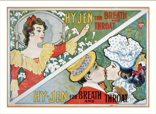 Historic Print  L   Hy Gen For Breath And Throat