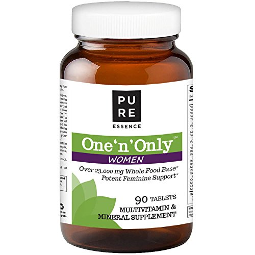 Tabs 90 Women Multivitamin - Pure Essence Labs One N Only Multivitamin for Women - Natural One a Day Herbal Supplement with Vitamin D, D3, B12, Biotin - 90 Tablets