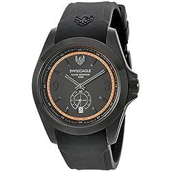 Swiss Eagle Men's SE-9064-04 Dufaux Analog Display Swiss Quartz Black Watch