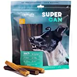 6-inch Prime THICK Odor Free Bully Sticks [ 24 Pack], by SUPER CAN BULLY STICKS, 100% Natural Free Premium Cattle Beef. Healthy Nutritious & Delicious dog treats and chews. All size dogs favorite