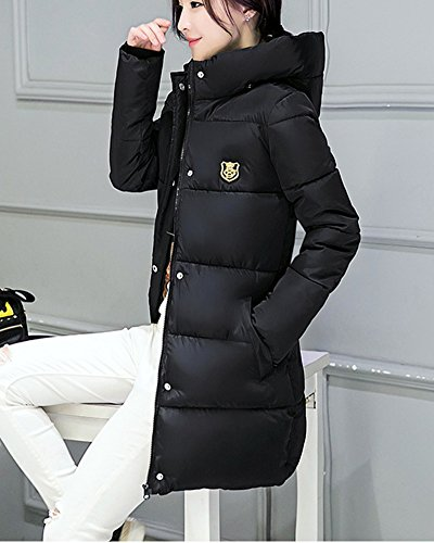 Down Padded Jacket Warm Women'S Bubble Thick Slim Black Puffer Hoodie PengGeng Coat Quilted qwZnAqCx