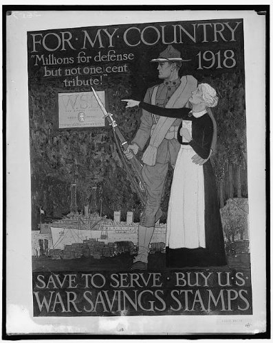 HistoricalFindings Photo: for My Country,Millions for Defense but not one Cent Tribute,World War I,WWI (Millions For Defense Not One Cent For Tribute)