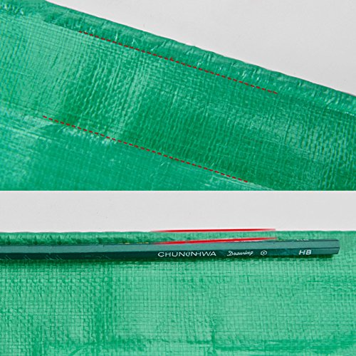 Tarpaulin Tarpaulin Sheet Mouldproof Hardy Canopy Boats Covers Sunscreen Anti-aging Frost Resisting -180g/m², Thickness 0.38mm, Green, 9 Sizes Optional, Size Customized (Size : 3 x 3m) by Hw Ⓡ Tarpaulin (Image #3)