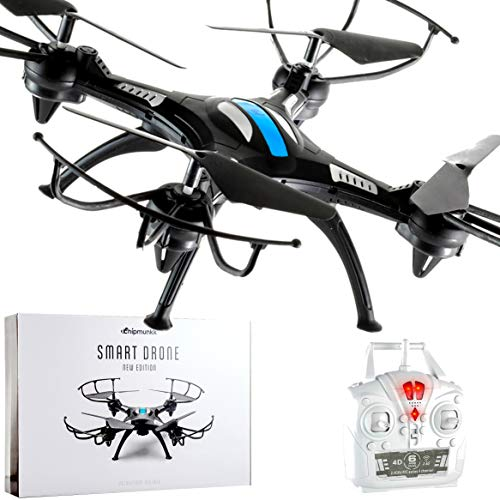 - Chipmunkk Quadcopter Drone with Remote Control for Kids, Adults and Flying Beginners. A Perfect Beginner Mini RC Helicopter. Best Drones Toy Air Quad Copter Under 50 Dollars Go Long Pro Live FPV HD.