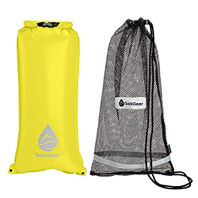 SnorkelSåk | 2-in-1 Premium Mesh Snorkel Bag with Removable Interior Waterproof Dry Bag | Ideal for Traveling, Beaches and Cruises | Reflective Trim & Machine Washable | by SÅK Gear
