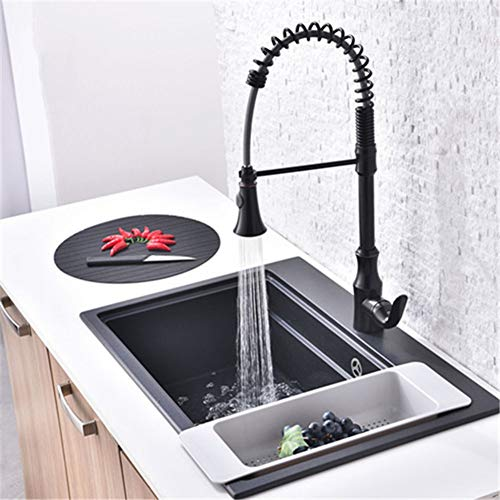 XINGAO The Copper Kitchen Faucet Can Pull The Telescopic Dish Washing Basin Sink Mixer Spring Cold and Hot Water Mixing Valve Can Be Rotated 360° (Best Value Combi Boiler)