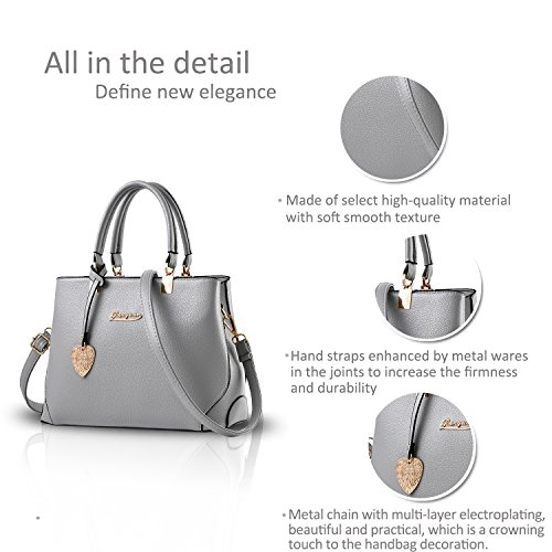 Women Grey Messenger New Tote Handbag NICOLE amp;DORIS Bag light Purse Outdoor Light Casual Fashion Ladies Work Grey Crossbody Shoulder a5Eqwpxw0