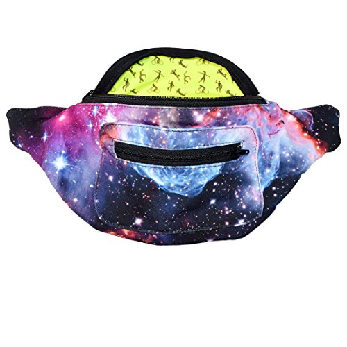 Galaxy Fanny Pack, Space Party Boho Chic Handmade with Hidden Pocket (The Fanny Frontier) by Santa Playa (Image #1)