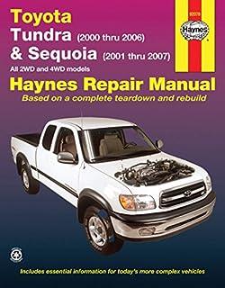 toyota tundra sequoia 2000 2006 chilton s total car care repair rh amazon com Toyota Tundra Fuse Box Diagram 2011 toyota tundra sr5 owners manual