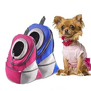 Mochila para Mascotas Mochila para Perros Mochila para Mascotas Mochila para transportistas Mochila de Malla Mochila para Llevar Mochila Shouder Doble para ...