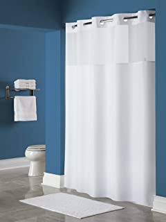 Hookless HBH49MYS01X Shower Curtain Mystery White