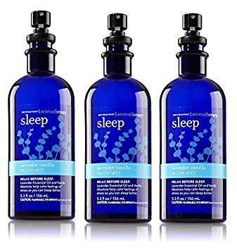 Lot of 3 Bath and Body Works Aromatherapy Lavender Vanilla Pillow Mist 5.3 Ounce by Thasaba