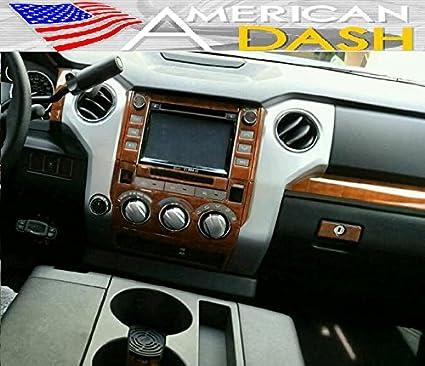American Dash TOYOTA TUNDRA QUAD CAB INTERIOR WOOD DASH TRIM KIT SET 2014  2015 2016 2017
