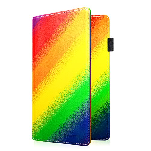 (MoKo Passport Holder, PU leather Travel Wallet Case for Passport, Rainbow Color)