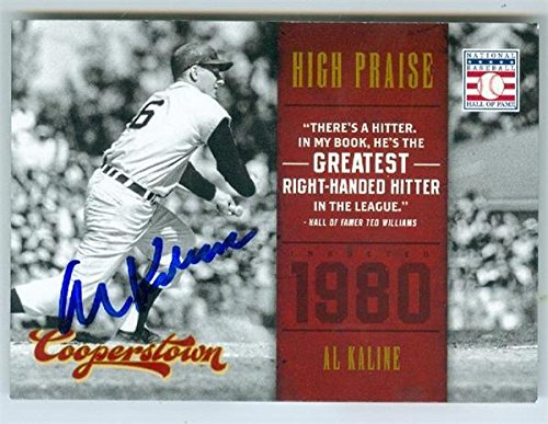 Al Kaline autographed baseball card (Detroit Tigers Hall of Fame) 2012 Cooperstown #12 - MLB Autographed Baseball Cards ()