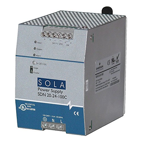 Sola/Hevi-Duty SDN20-24-100C DC Power Supply, 24 VDC, 20 Amp, 60 - Sola Transformers Hevi Duty