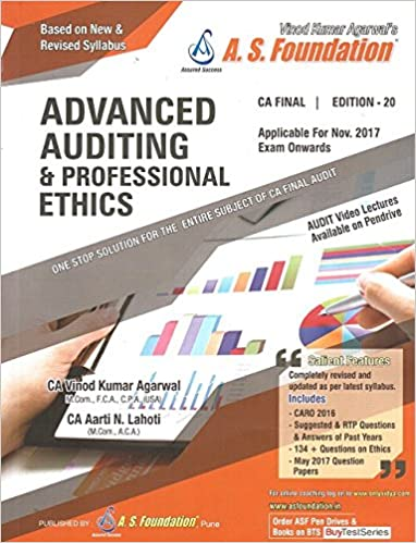 Buy A  S  Foundation's Advanced Auditing & Professional