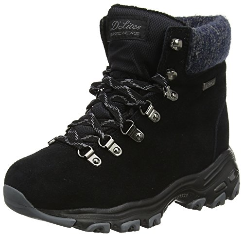 Short Lace Up Winter Boots (Black) - 1