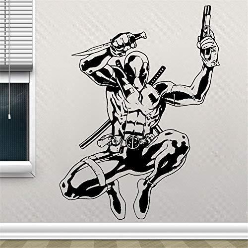 Umondon Wall Decal Quote Words Lettering Decor Sticker Wall Vinyl Deadpool Supervillain Comics Antihero Sticker Comic Book Character Home Interior