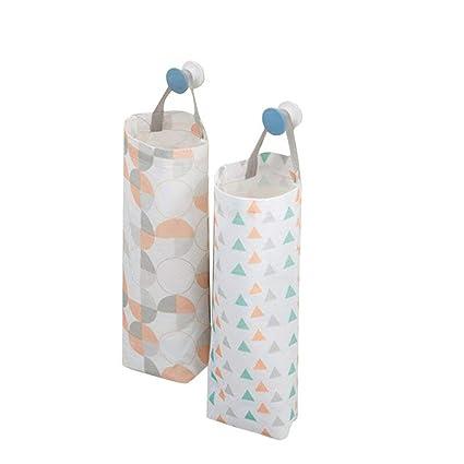 akinly bolsa de plástico bolsa de basura soporte impermeable montaje en pared dispensador de bolsa de