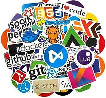 YLGG 123 Unids/Pack Programación Pegatinas Geek Hacker Pegatinas ...