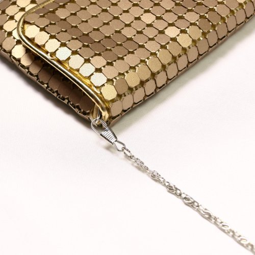 Bag Evening Diff Colors Gold Flap Chic Mesh Clutch Metal Avail Lightweight qpwgxFY