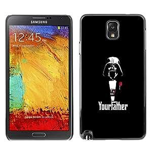 // PHONE CASE GIFT // Duro Estuche protector PC Cáscara Plástico Carcasa Funda Hard Protective Case for Samsung Note 3 N9000 / Yourfather Estrella Guerra Darth Vade /