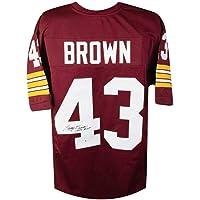 $99 » Larry Brown 1972 MVP Autographed Washington Redskins Custom Football Jersey - BAS COA
